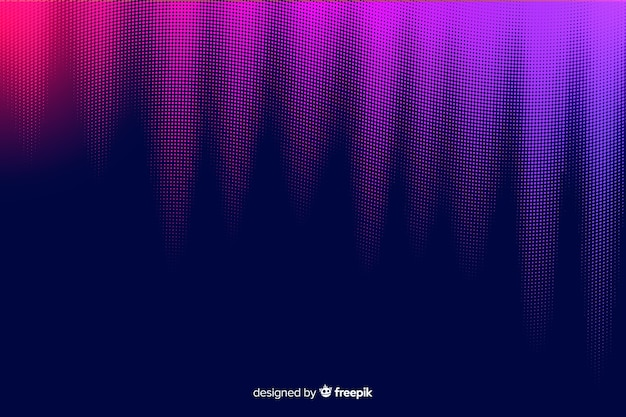 Colorful gradient particles background