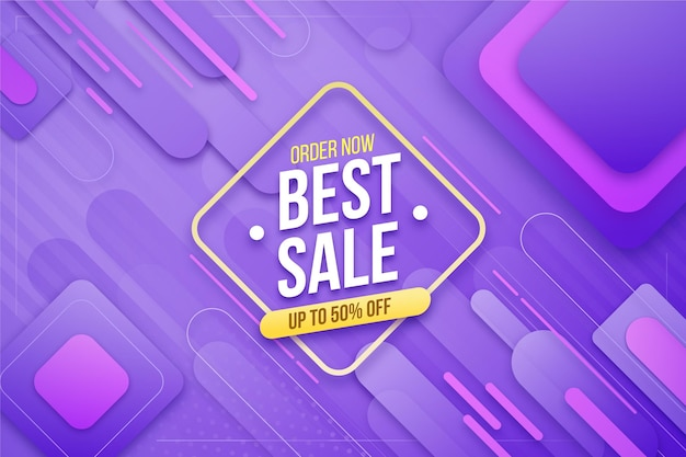 Colorful gradient sale background