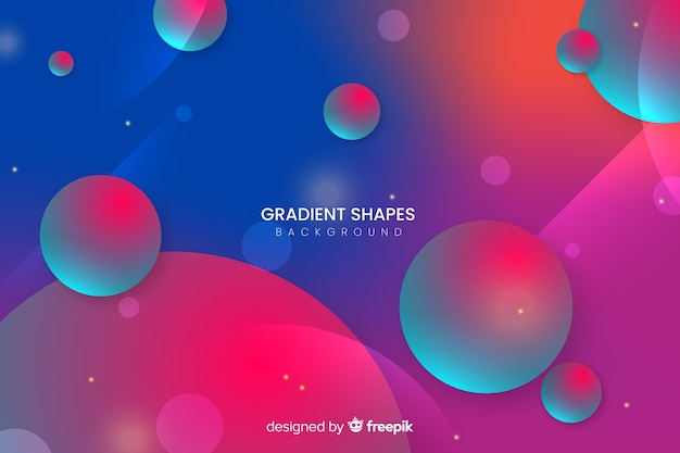 Colorful gradient shapes background