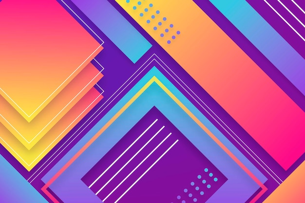 Colorful gradient shapes screensaver