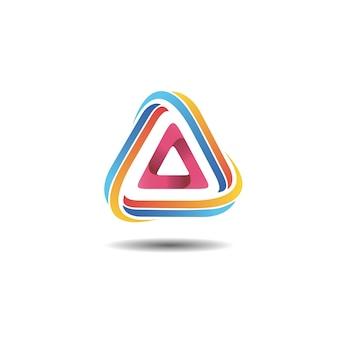 Colorful gradient triangle logo design