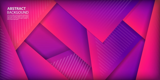 Colorful gradient triangles shapes background