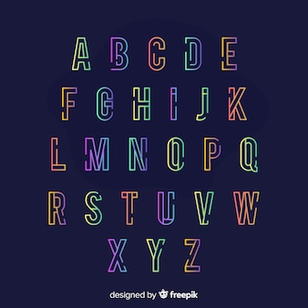 Colorful gradient typography