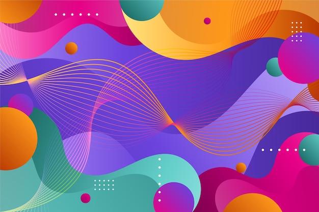 다채로운 그라데이션 물결 모양 배경
