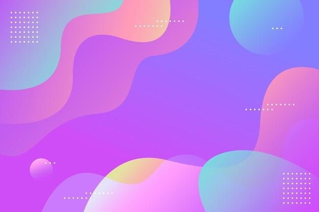 Красочный градиент волнистый фон