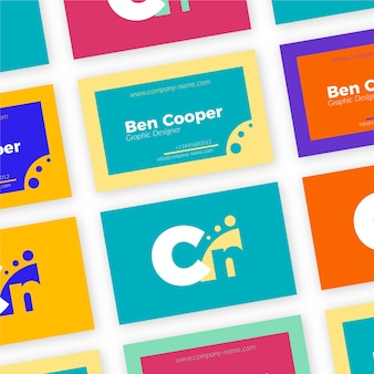 Colorful graphic designer business card