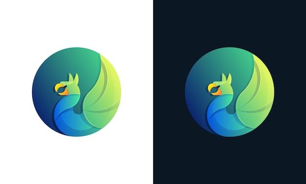 Шаблон логотипа красочный грифон