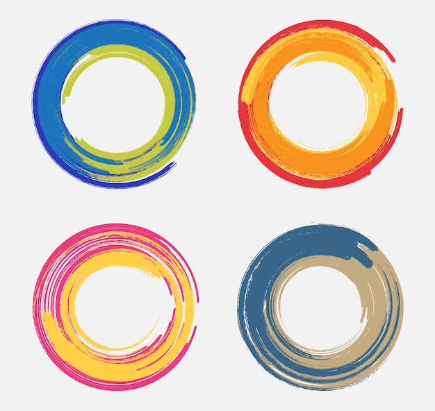Colorful grunge circles