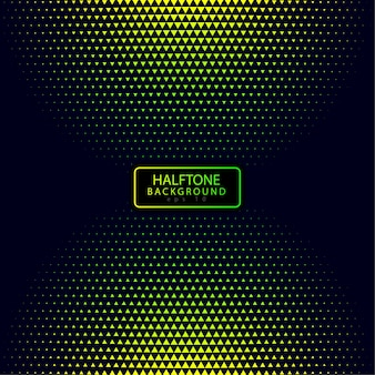 Colorful Halftone Background with Triangle Shape