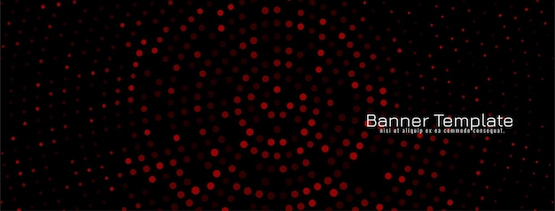 Banner decorativo scuro design mezzitoni colorato