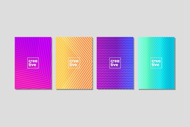 Colorful halftone gradient cover collection