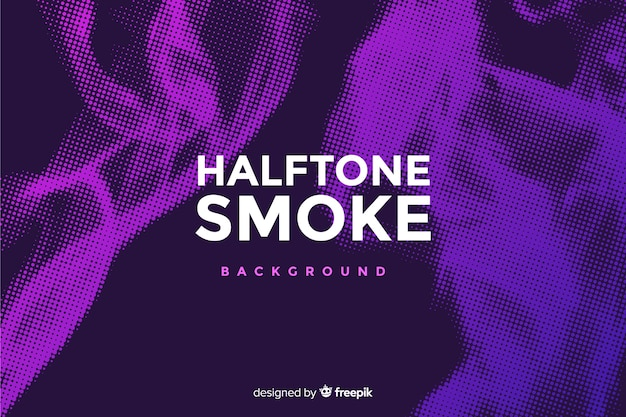 Colorful halftone smoke background