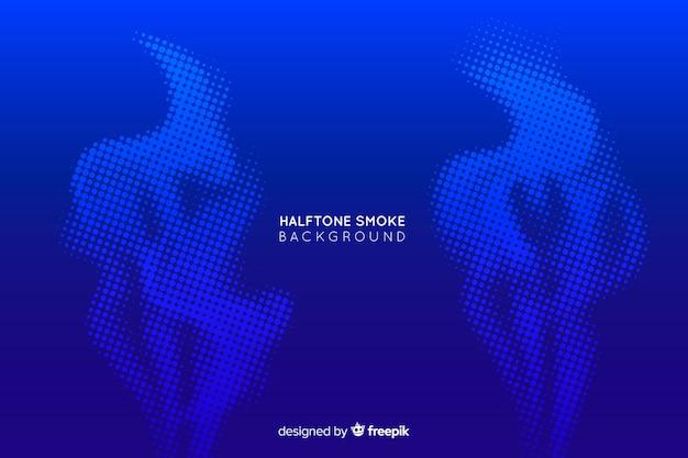 Colorful halftone smoke background