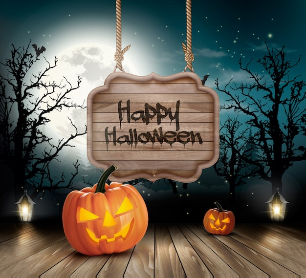 Colorful halloween background