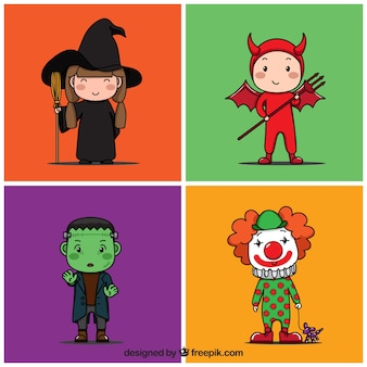 Colorful halloween costumes