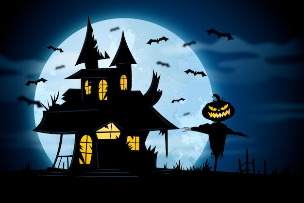 Colorful halloween design background