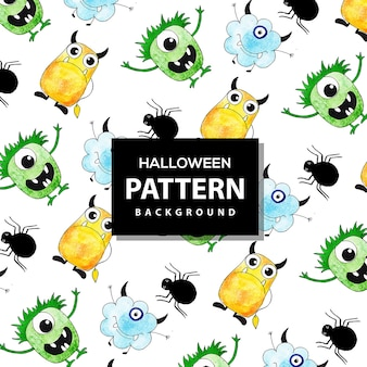 Colorful halloween pattern background