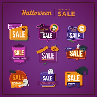The colorful halloween theme