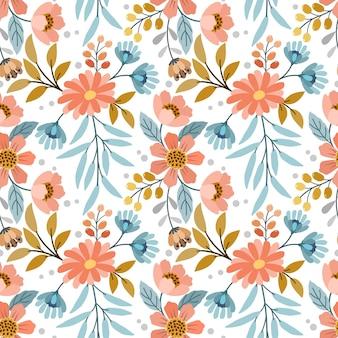 Красочная рука рисовать цветы бесшовные модели для тканевых текстильных обоев.