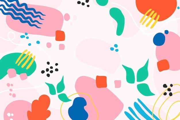 다채로운 손으로 그린 추상 모양 배경