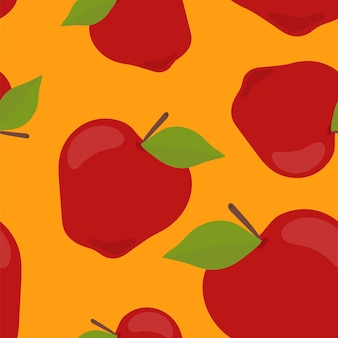Colorful hand drawn apple pattern