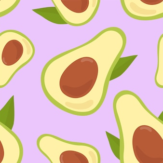 Colorful hand drawn avocado pattern