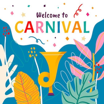 Colorful hand drawn carnival