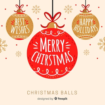 Colorful hand drawn christmas ball collection