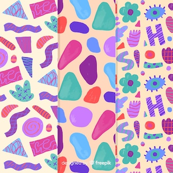 Colorful hand drawn pattern abstract