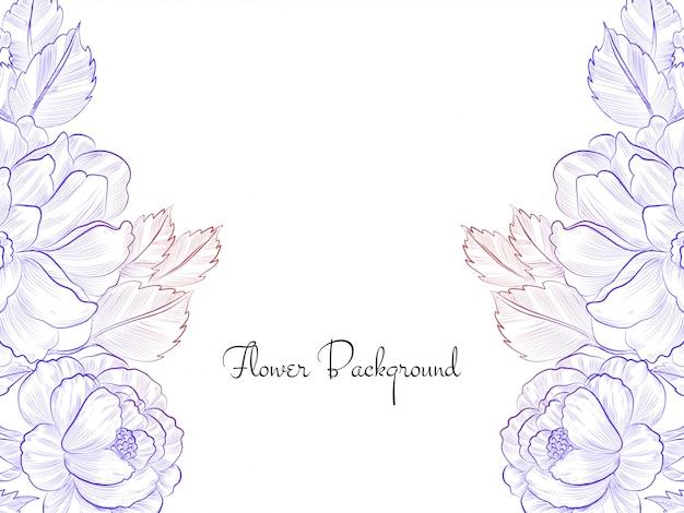 Красочный рисованной эскиз цветок