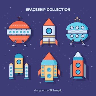 Красочный ручной экипаж космического корабля