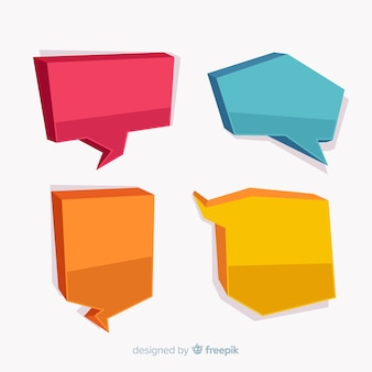 Colorful hand drawn speech balloons pack