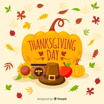 Colorful hand drawn thanksgiving day background