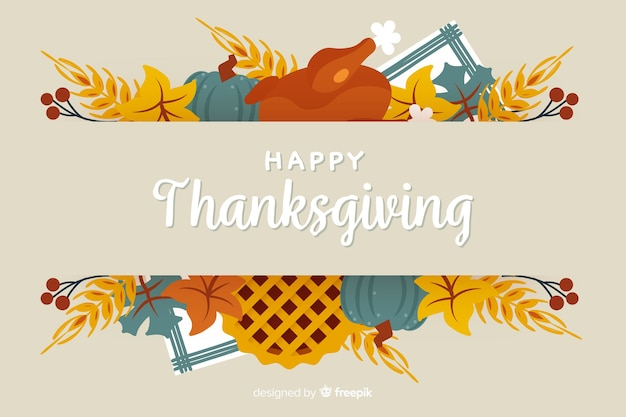 Colorful hand-drawn thanksgiving day background
