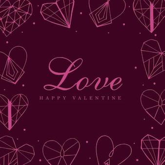 Colorful hand drawn valentine background