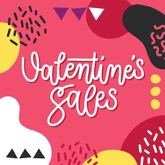 다채로운 손으로 그린 발렌타인 판매