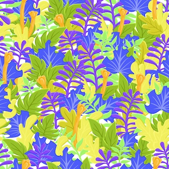 Colorful hand drawn wild nature background