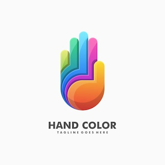 Colorful hand illustration vector