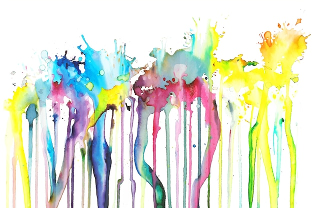 Colorful hand painted background