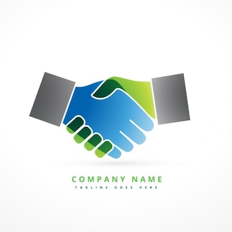 Colorful hand shake logo