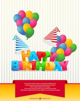 День рождения карты вектор
