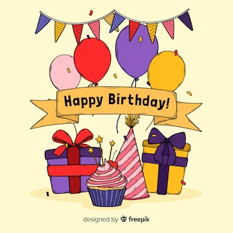 Colorful happy birthday invitation