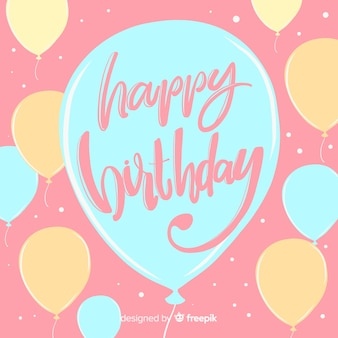 Colorful happy birthday lettering background