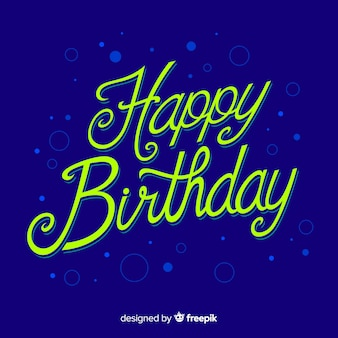 Colorful happy birthday lettering Free Vector