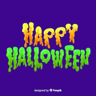 Colorful happy halloween lettering background