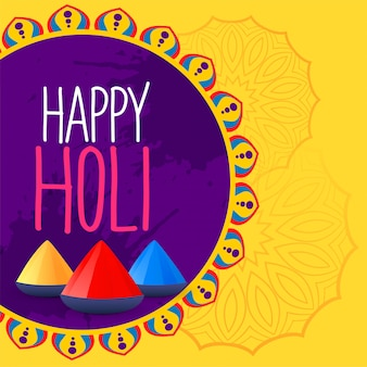 Colorful happy holi festival background