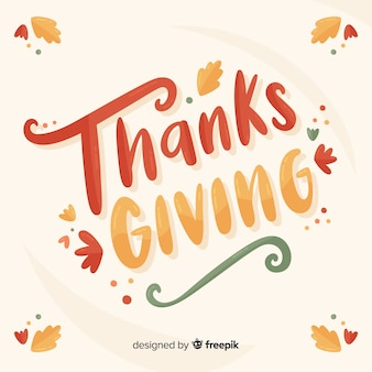 Colorful happy thanksgiving lettering