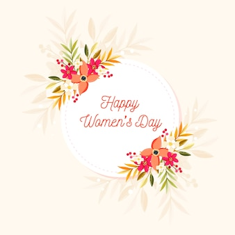 Colorful happy women's day