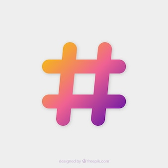 Colorful hashtag background