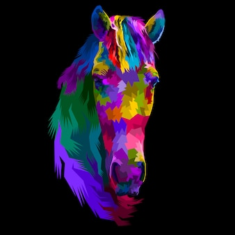 Colorful head horse